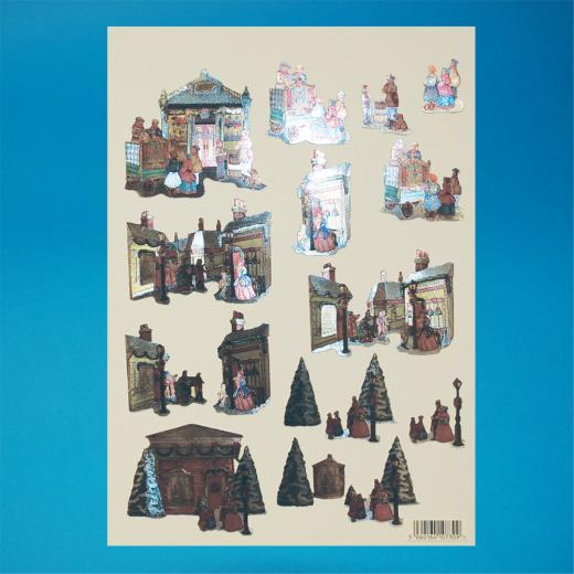 Papermania 4-Piece 3D Letters Xmas