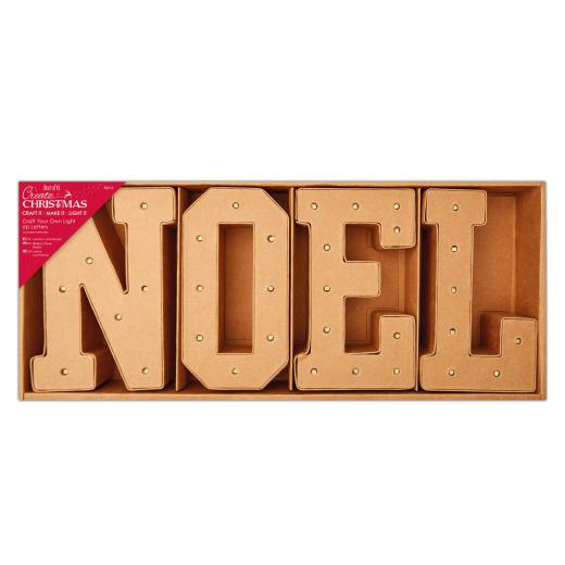 Create Christmas Craft Your Own Decoration Light Up Letters Noel
