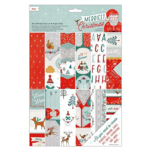PK 2 CHRISTMAS SANTA /& REINDEER ENVELOPE EMBELLISHMENT FOR CARDS OR CRAFTS